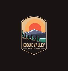 emblem patch logo kobuk valley national park vector image