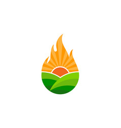 fire farm logo icon design vector image