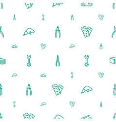 Fix icons pattern seamless white background vector