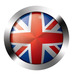 Flag metal glass europe united kingdom vector image