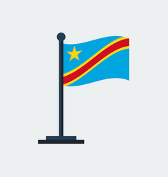 flag of congo kinshasaflag stand vector image