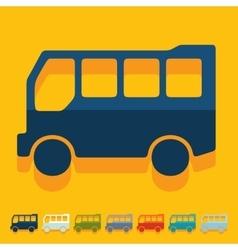 Flat design bus vector