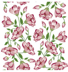 floral seamless background flower bouquet vector image