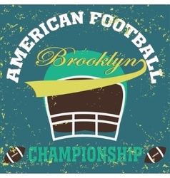 football brooklyn new york vector image
