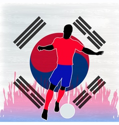 Football Korea vector image