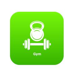 gym metall icon green vector image
