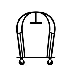 Hotel luggage carts vector