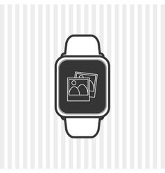 Icon of Smart watch design vector image