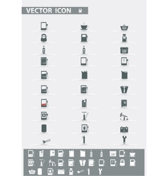 icons set Gas Station vector image