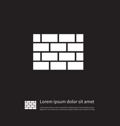 isolated brick icon wall element can be vector image
