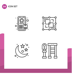 Line pack 4 universal symbols tracking vector
