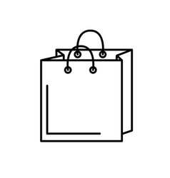 Line shopping bag design to save the products vector