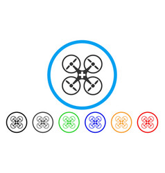 medical drone rounded icon vector image