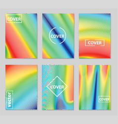 minimal covers design geometric colorful halftone vector image