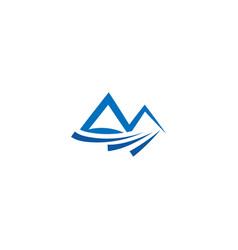 Mountain and water logo icon design template vector