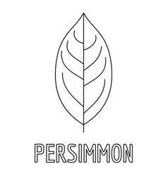 persimmon leaf icon outline style vector image