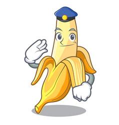 police ripe banana isolated on character cartoon vector image