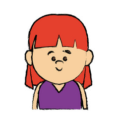 portrait woman smiling cartoon person avatar vector image