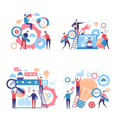 promotion characters business people advertise vector image