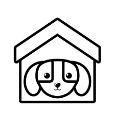 Puppy domestic mammal house pet outline vector