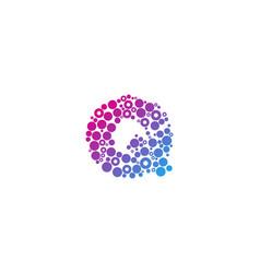 Q particle letter logo icon design vector