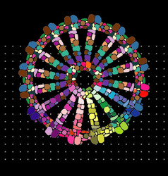 Rainbow gypsy wheel vector