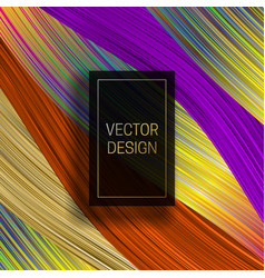 Rectangular frame on saturated colorful vector