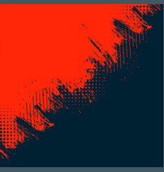 red and black abstract grunge texture background vector image