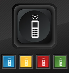 remote control icon symbol Set of five colorful vector image