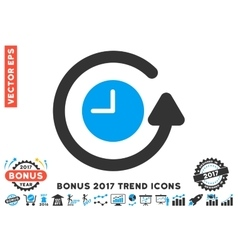 Restore Clock Flat Icon With 2017 Bonus Trend vector
