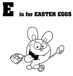 Royalty Free RF Clipart Cartoon Alphabet E vector