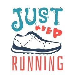 Run sport motivation vector image