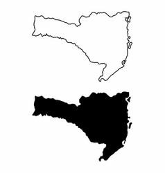 santa catarina state maps vector image