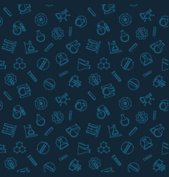 seamless pattern with chemistry outline vector image