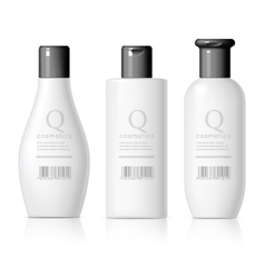 Set of Realistic cosmetic bottle vector image