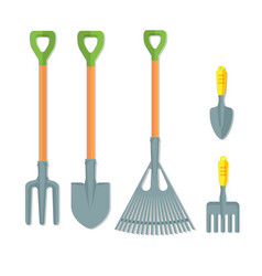 set of working tools for gardening vector image