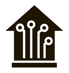 smart house icon simple style vector image