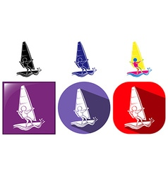Sport icon design for sailing vector image