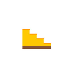 Stairs icon flat element of vector