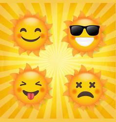 sun set isolated sunburst background vector image