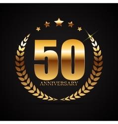 Template Logo 50 Years Anniversary vector