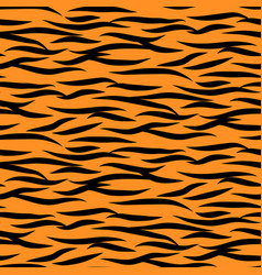 tiger stripes seamless pattern black vector image