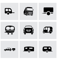 trailer icon set vector image