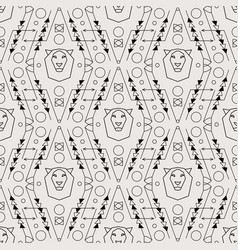 tribal seamless pattern with lion vector image