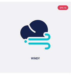Two color windy icon from autumn concept isolated vector