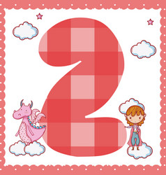 two number cartoon vector image