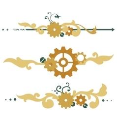 Victorian steampunk elements vector
