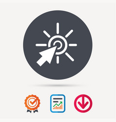 click icon computer mouse cursor sign vector image