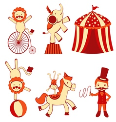 Cute circus vector image