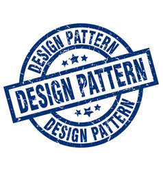 design pattern blue round grunge stamp vector image